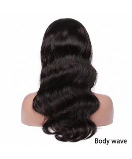 Virgin human hair lace front wig
